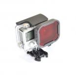Красный фильтр в виде крышки для GoPro Hero 3+\4